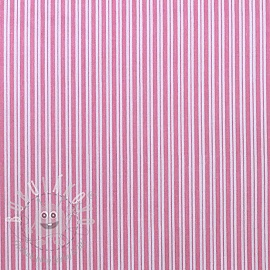Twill Cotton Stripe Pink