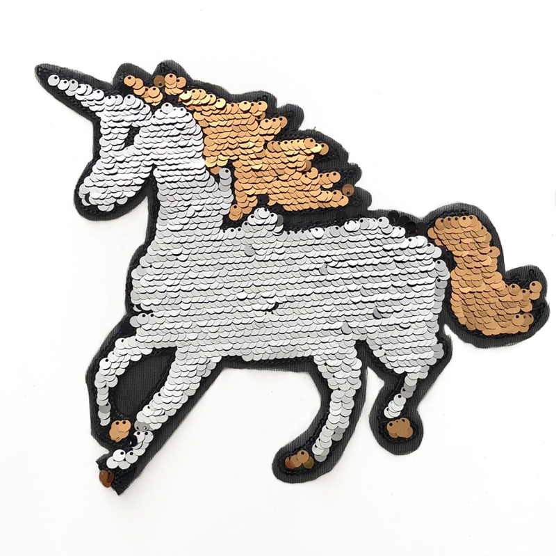 Flitry oboustranné Unicorn silver