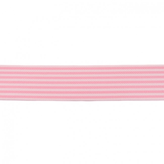 Guma hladká 4 cm Stripe light pink