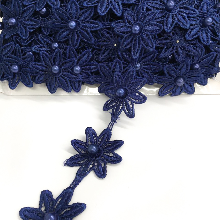 Krajka Bloom dark blue
