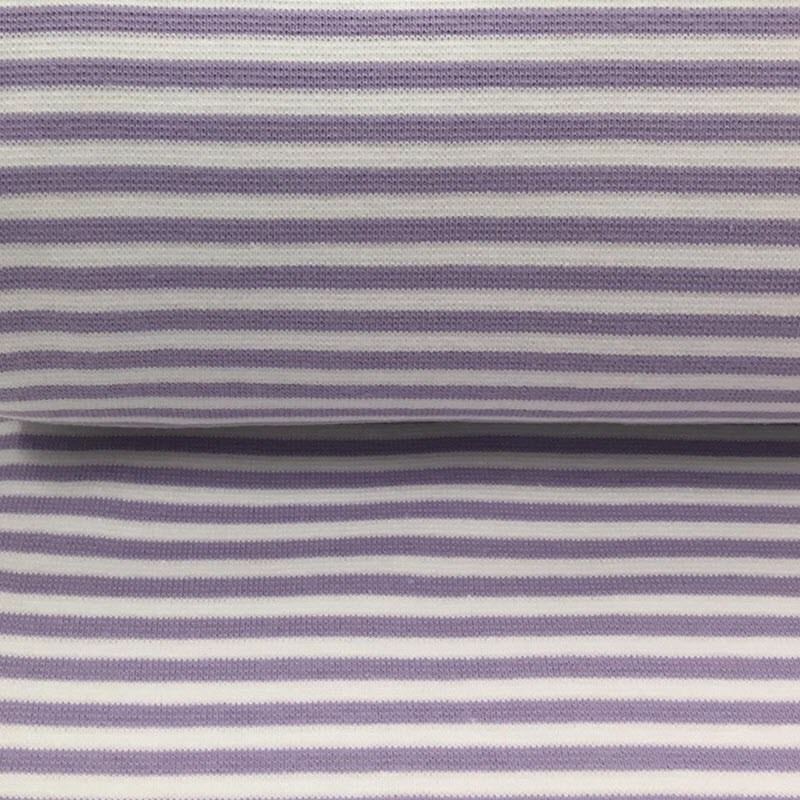 Náplet hladký Stripe light purple white