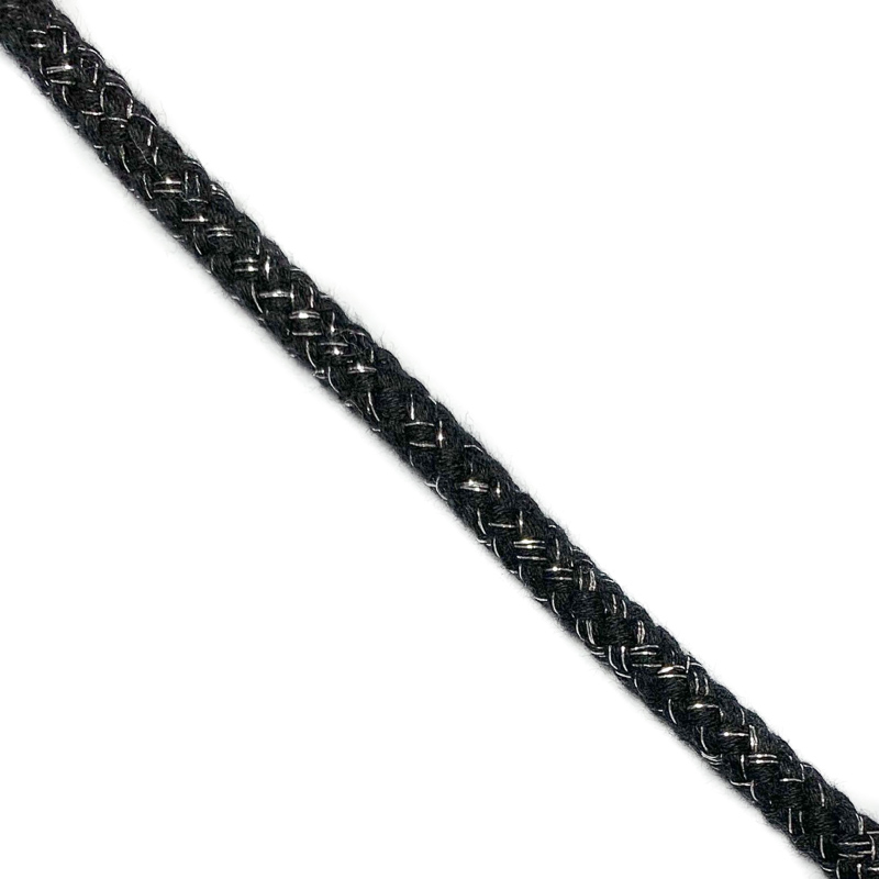 Šnůra Lurex 10 mm black