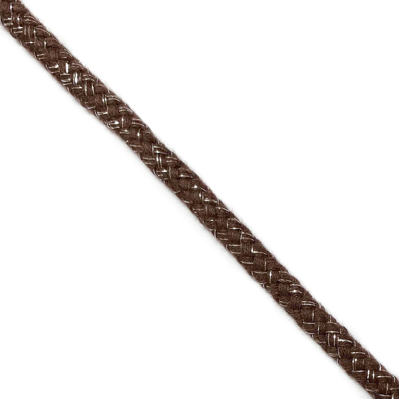 Šnůra Lurex 10 mm brown