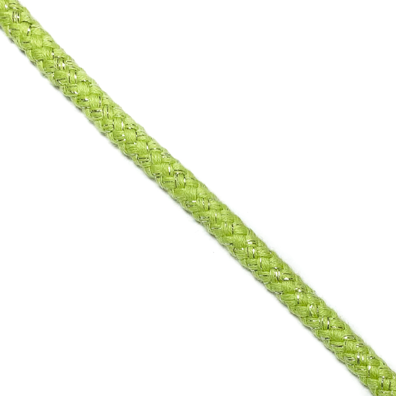 Šnůra Lurex 10 mm lime