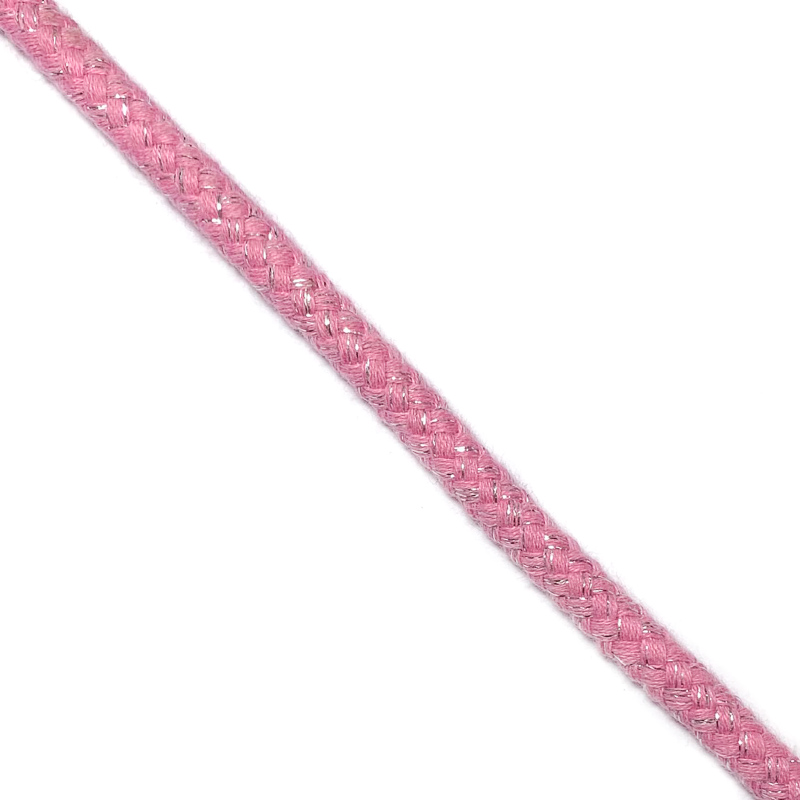 Šnůra Lurex 10 mm pink