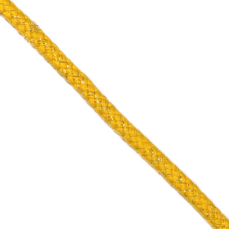 Šnůra Lurex 10 mm yellow