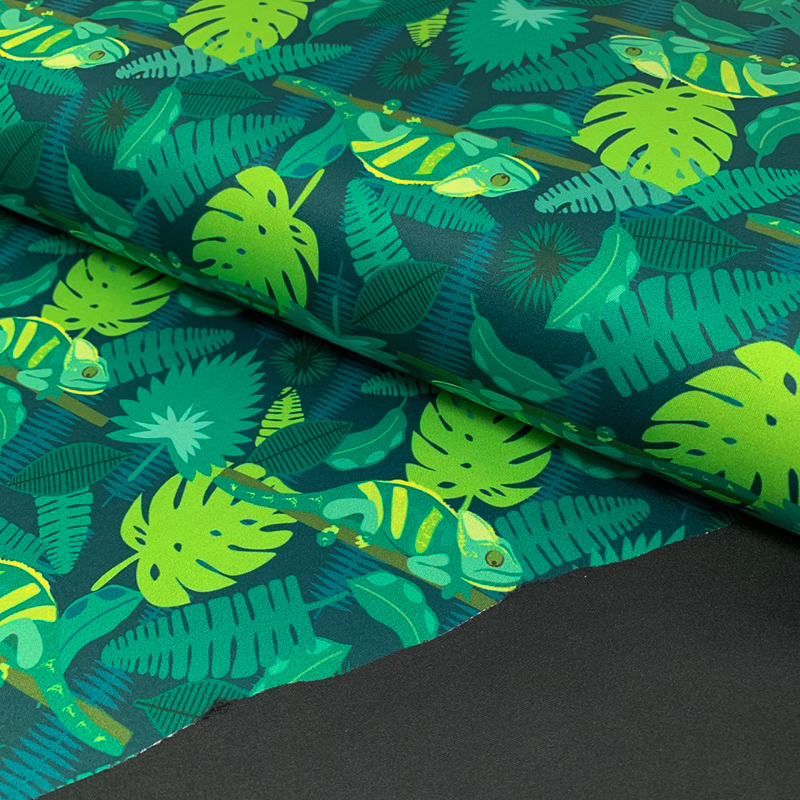 Softshell SPORT Tropic green digital print