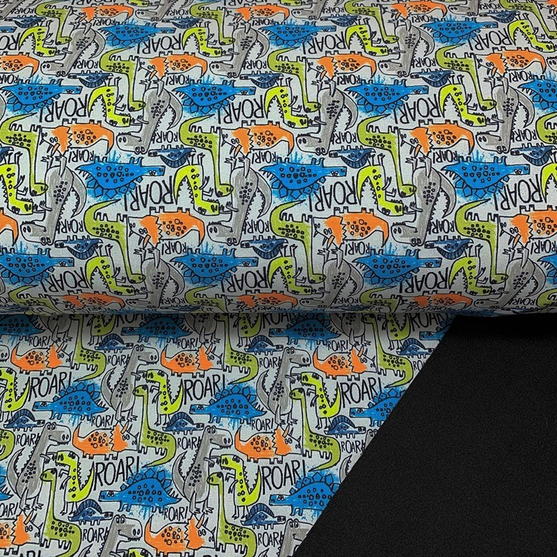 Softshell zimní The dinos are back grey digital print