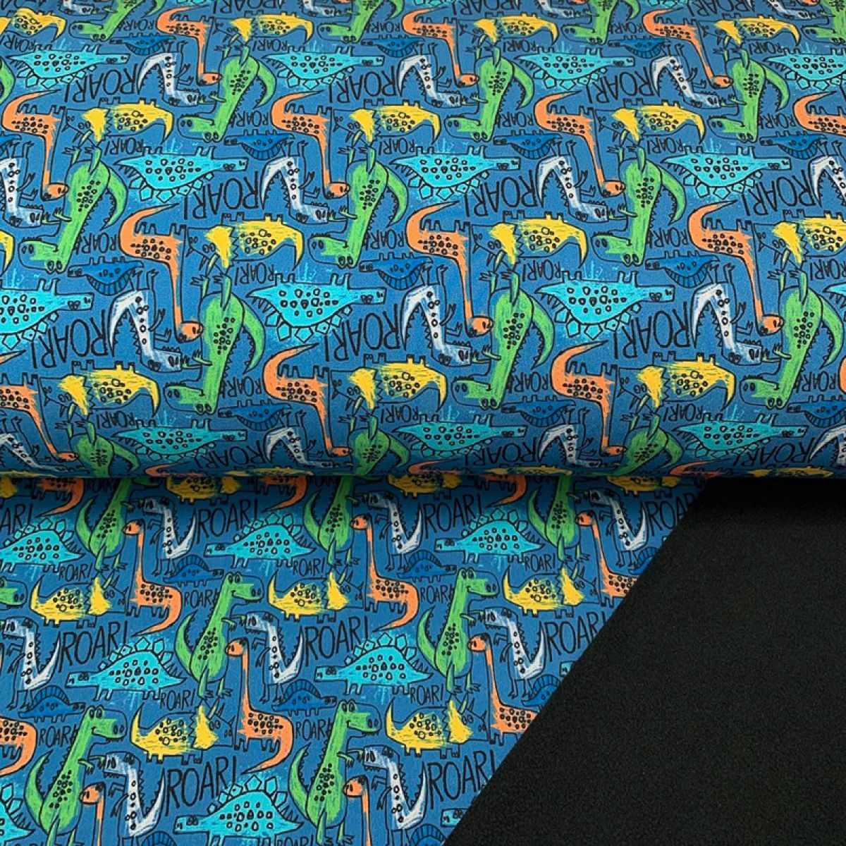Softshell zimní The dinos are back petrol digital print