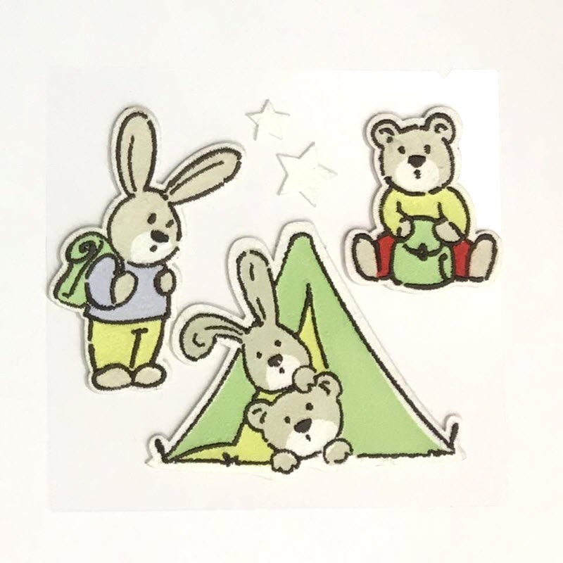 Sticker BASIC Bunny  amp; Teddy