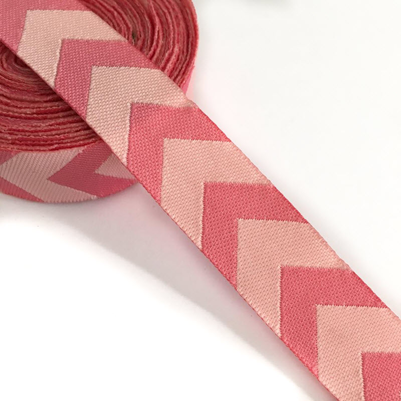 Stuha Chevron light pink