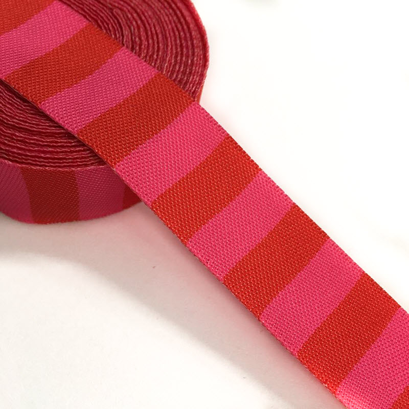 Stuha Stripe red