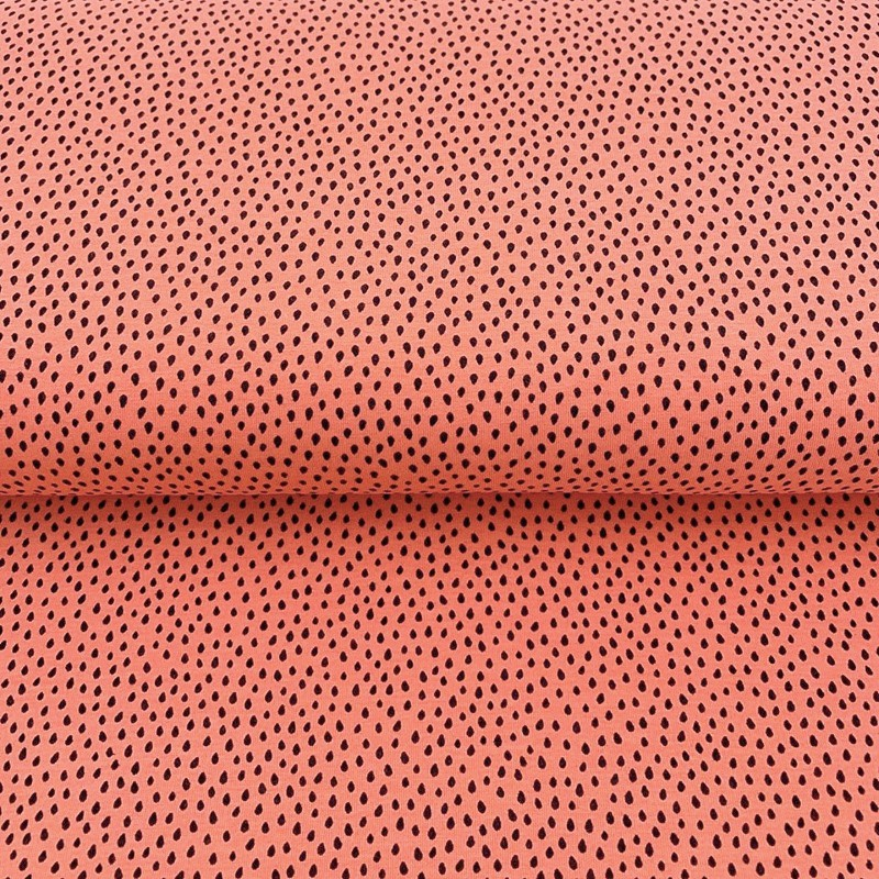 Úplet Crazy dots salmon