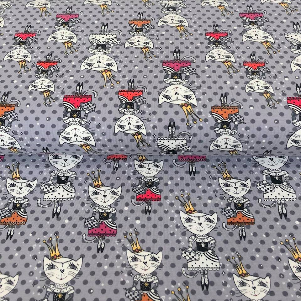 Úplet Queen cat light grey